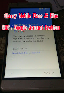 Cherry Mobile Flare J3 Plus Bypass FRP google account verification