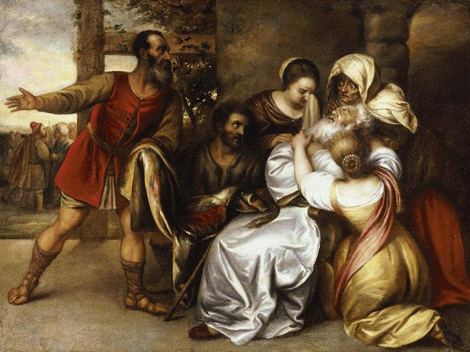 Jacob Receiving The Bloodied Tunic Of Joseph By Jan Lievens 1607 74 Public Domain Image From Wikimedia Commons