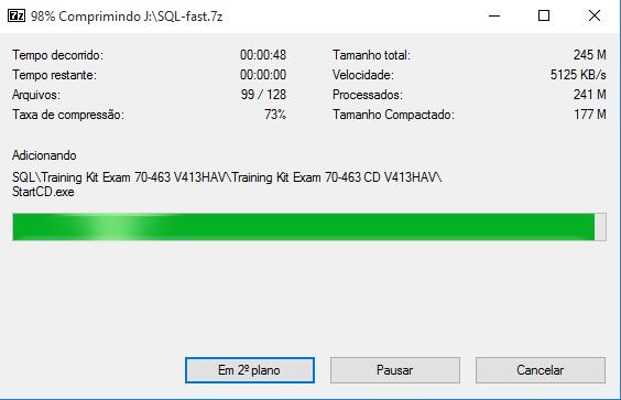 compressão 7-zip .7z