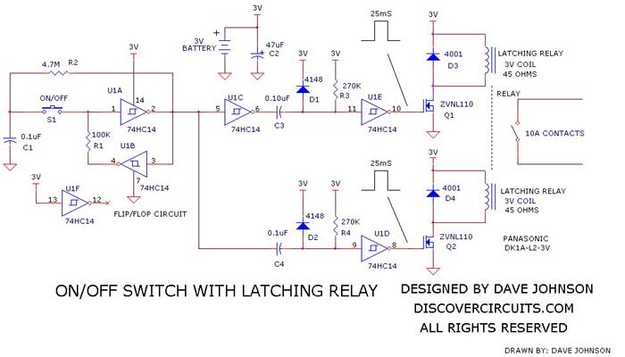 Fine Wiring Schematic Diagram Latching Relay On Off Switch Circuit Wiring Cloud Tobiqorsaluggs Outletorg