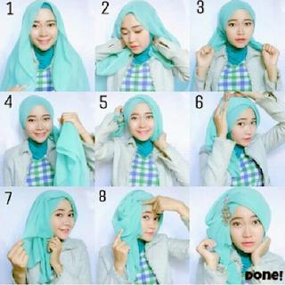 Langkah Mudah Cara Memakai Jilbab Pesta Cantik   Model ...