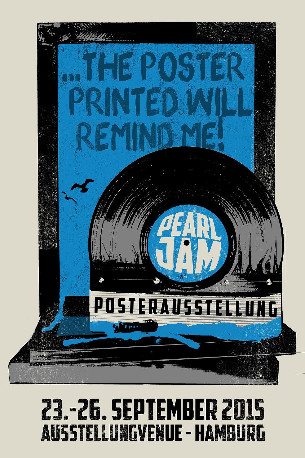 Inside The Rock Poster Frame Blog Pearl Jam Poster Show In Hamburg