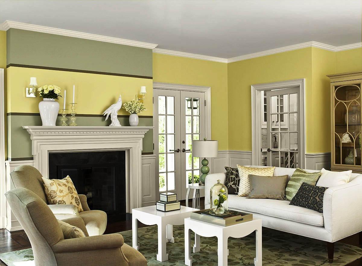 Cat Dinding Ruang Tamu Minimalis Modern Kombinasi 3 Warna