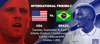 اون لاين مشاهدة مباراة البرازيل والولايات المتحدة الأمريكية بث مباشر 08-09-2018 مباراة ودية دولية اليوم بدون تقطيع
