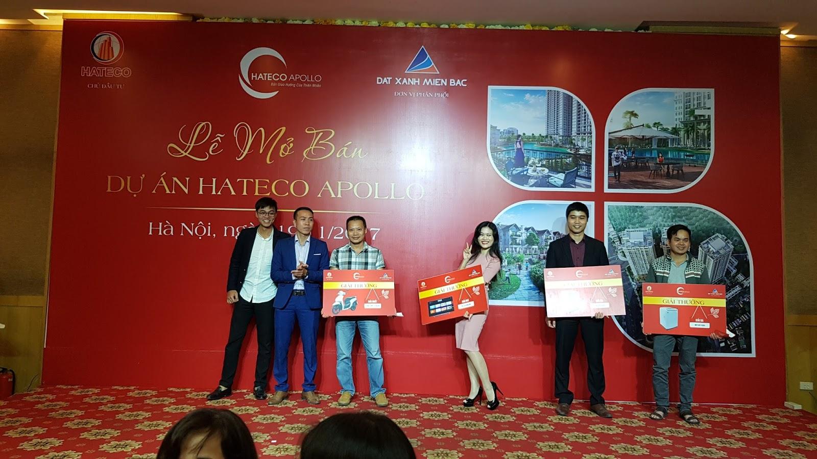 Phần trao giải trong sự kiện mở bán Hateco Apollo Xuân Phương