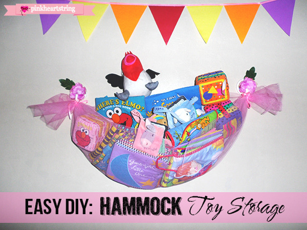 DIY Hammock Toy Storage