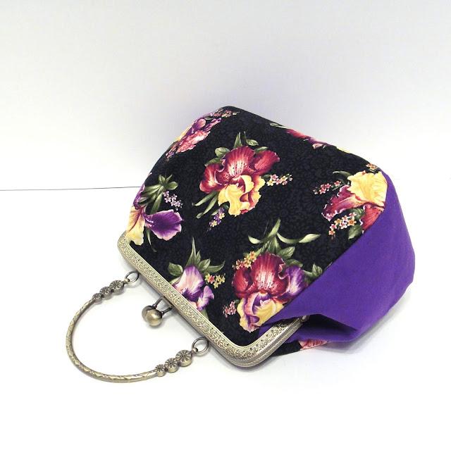 Летняя сумка с фермуаром - подарок женщине, ручная работа. Доставка почтой или курьером