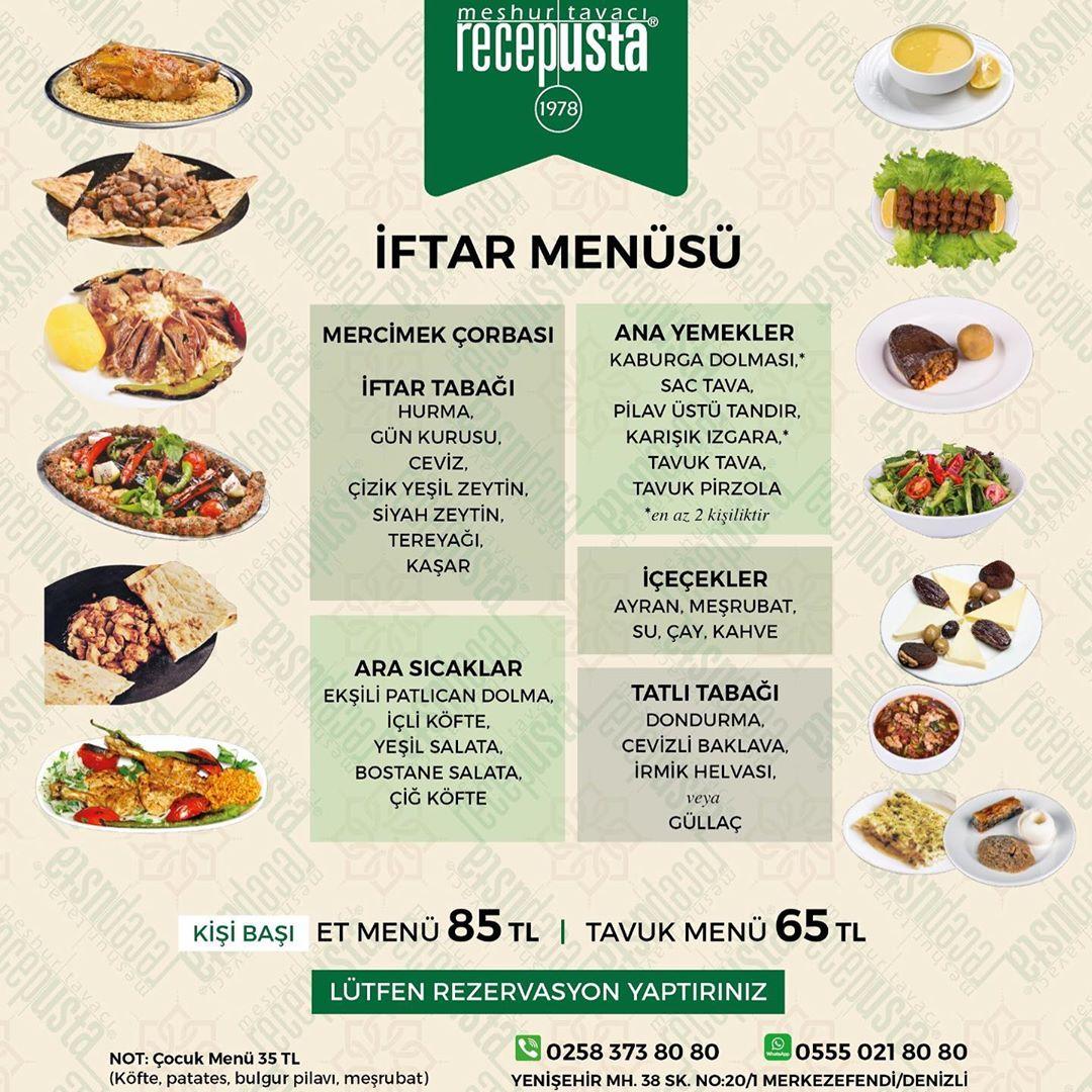 denizli iftar menüleri 2019 denizli iftar mekanları denizli ramazan menüsü denizli ramazan menüleri