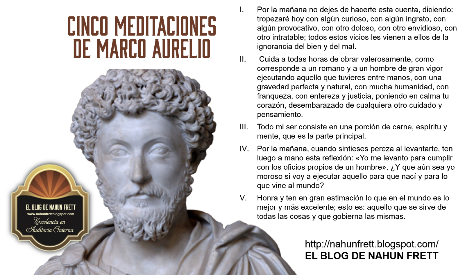 Nahun Frett: Cinco meditaciones de Marco Aurelio