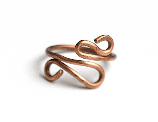 Copper Swirl Ring, Size 6.5