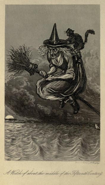 Nostalgic Halloween Witch Illustration