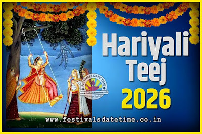 2026 Hariyali Teej Festival Date and Time, 2026 Hariyali Teej Calendar