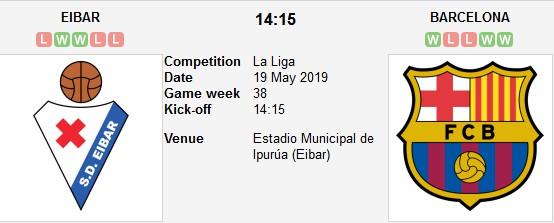 eibar vs barcelona live