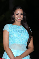 Pujita Ponnada in transparent sky blue dress at Darshakudu pre release ~  Exclusive Celebrities Galleries 103.JPG