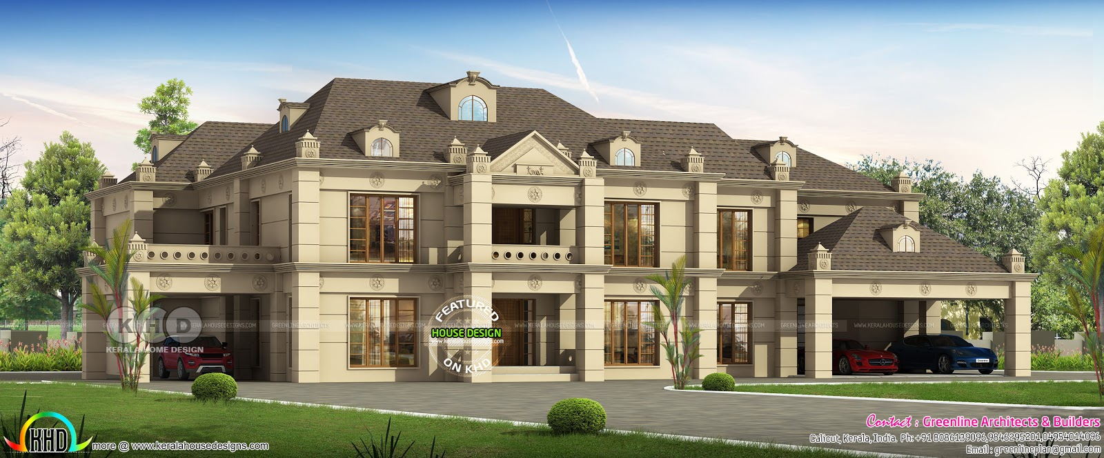 Big Colonial Model 6 Bedroom House Plan Kerala Home Design