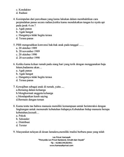 Soal Tema 6 Kelas 5 Panas Dan Perpindahannya : kelas, panas, perpindahannya, Download, Tematik, Kelas, Subtema, Panas, Perpindahannya, HAMASAHPRIVAT.COM