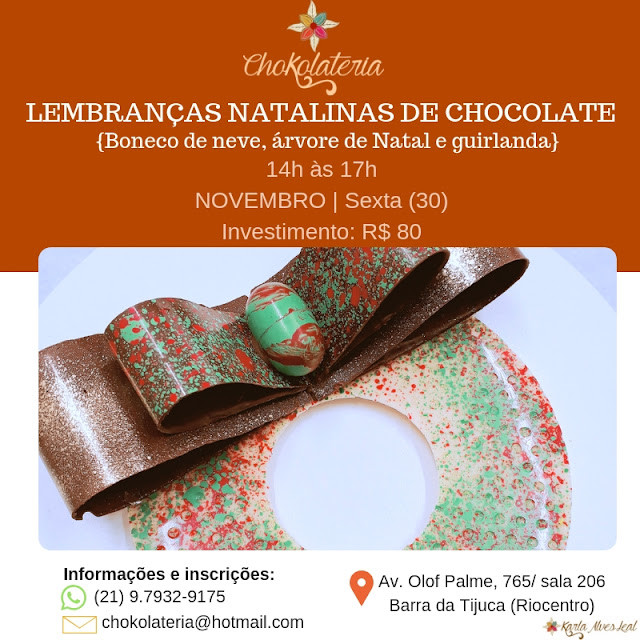Curso | Lembranças natalinas de chocolate - Chokolateria Karla Alves Leal