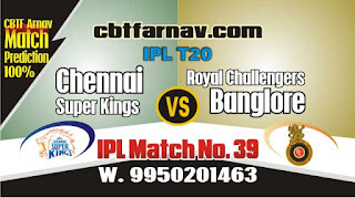 CSK vs RCB IPL 2019 39th Match Prediction Today Who Will Win