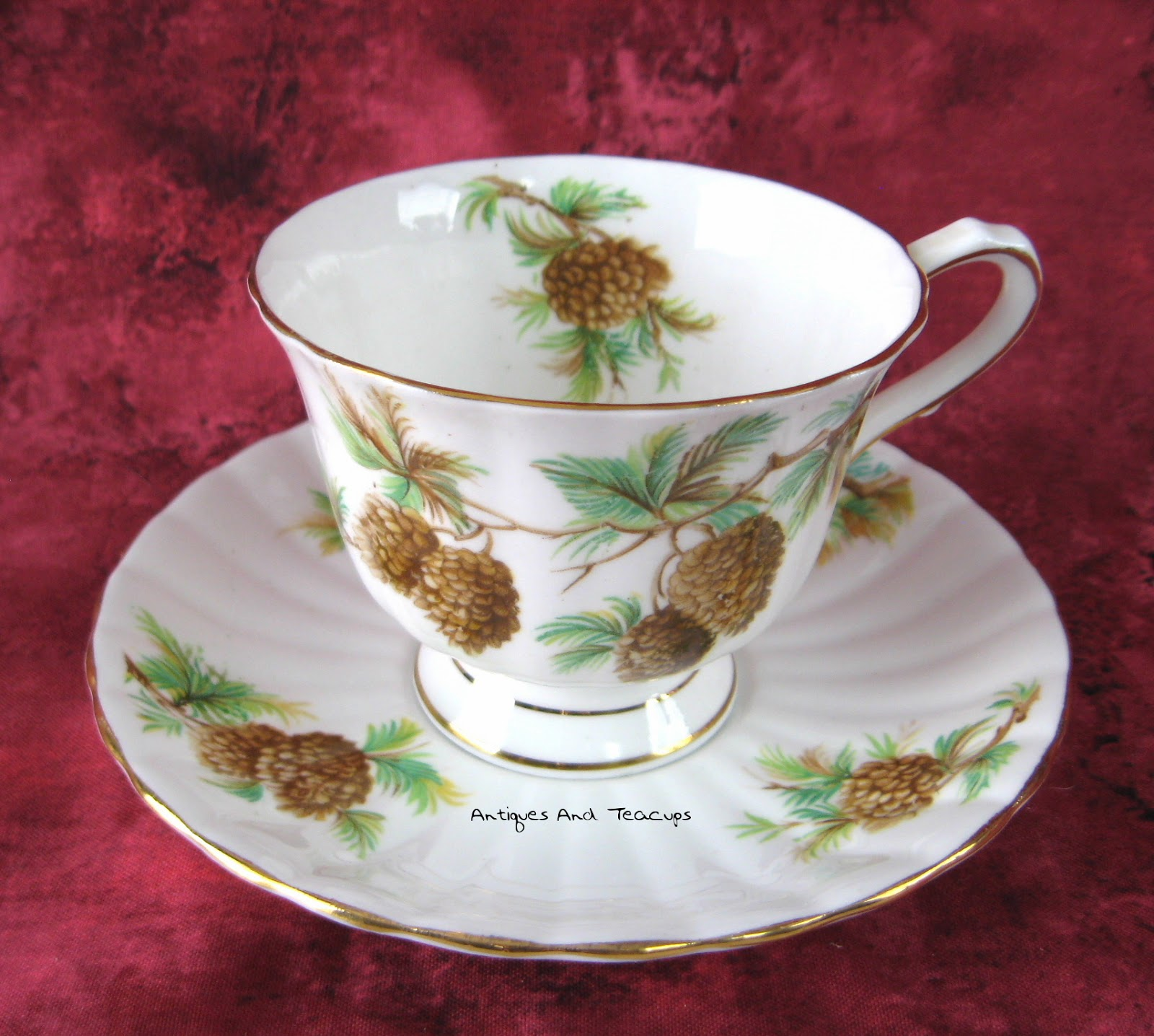 Antiques And Teacups: Tuesday Cuppa Tea, Pinecones Everywhere ...
