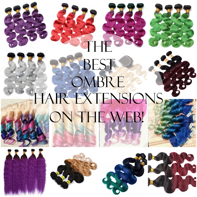 Ombre Human Hair Extensions & Clip-ins