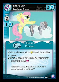 My Little Pony Fluttershy, Rainbow Chaser Canterlot Nights CCG Card