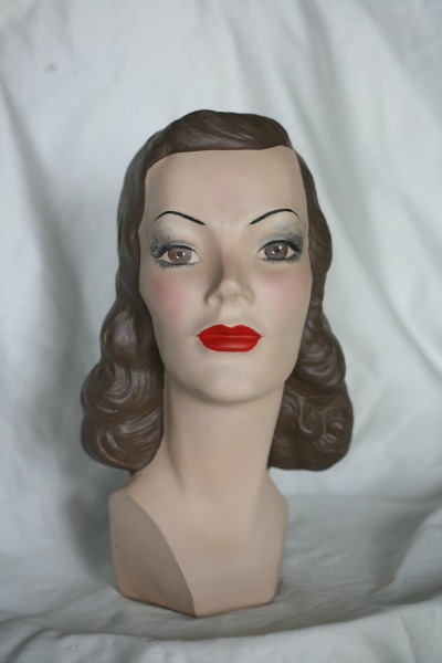 Marge Crunkleton's Vintage Mannequin Heads This Lovely Head is Named Alice