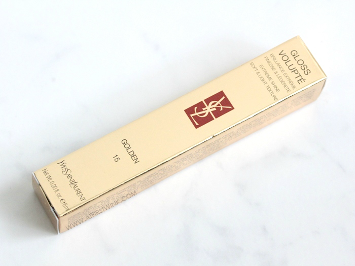 YSL gloss volupté gold packaging