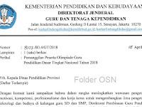 PESERTA OLIMPIADE GURU PENDIDIKAN DASAR (SD dan SMP) TINGKAT NASIONAL TAHUN 2018