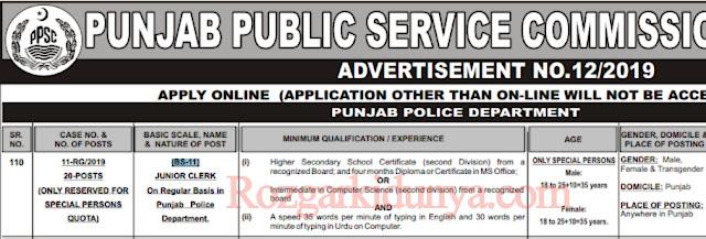 Latest Punjab Police Jobs 2019 in Pakistan | Jobs in Punjab Police 2019