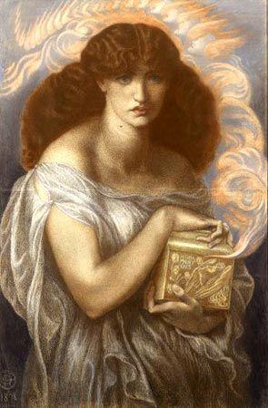 'Pandora' 1878 Dante Gabriel Rossetti (1828 - 1882)