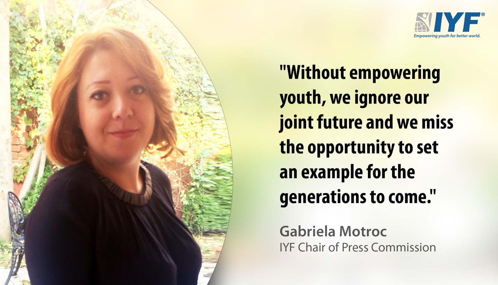 Gabriela Motroc, IYF Chair of Press Commission