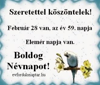 Február 28, Elemér névnap