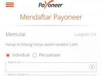 Cara Mendaftar Payoneer Mendapatkan Bonus 25 Dollar