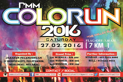 Another 10 kilometer , pickup racekit for PMM Color Run 2016