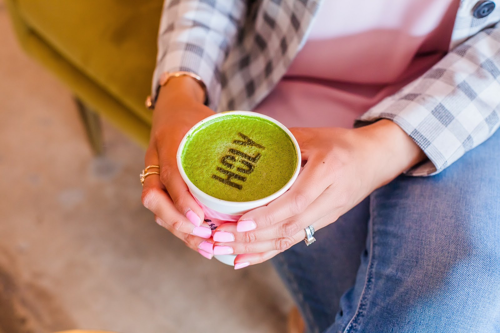 Holy Matcha drink, blogger at holy matcha, holy match san diego