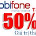 Ưu đãi từ khuyến mãi 50% thẻ cào Mobifone ngày 4/10/2016