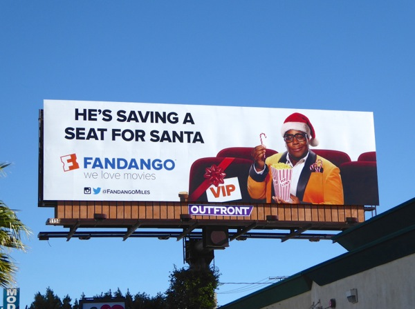 Hes saving a seat for Santa Fandango billboard