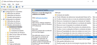 modelos administrativos ocultar lixeira do windows