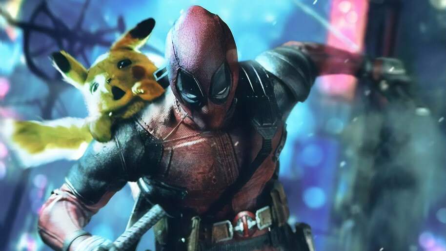 Deadpool, Pikachu, 4K, #4.211