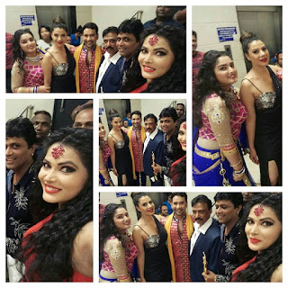 Dinesh Lal Yadav, Amrapali Dubey, Seeema Singh and more celebs at the Bhojpuri Film Award 2016 in Mumbai.
