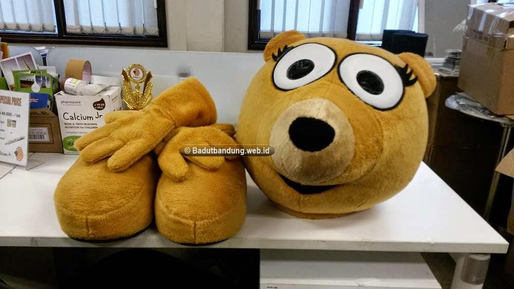 kostum badut beruang calcium jr gambar dari customer jakarta