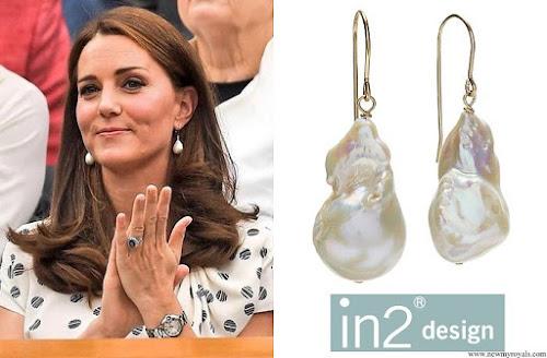 Kate Middleton wore In2Design baroque pearl earrings