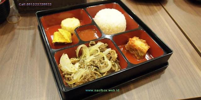 Nasi kotak ala korea di ciwidey