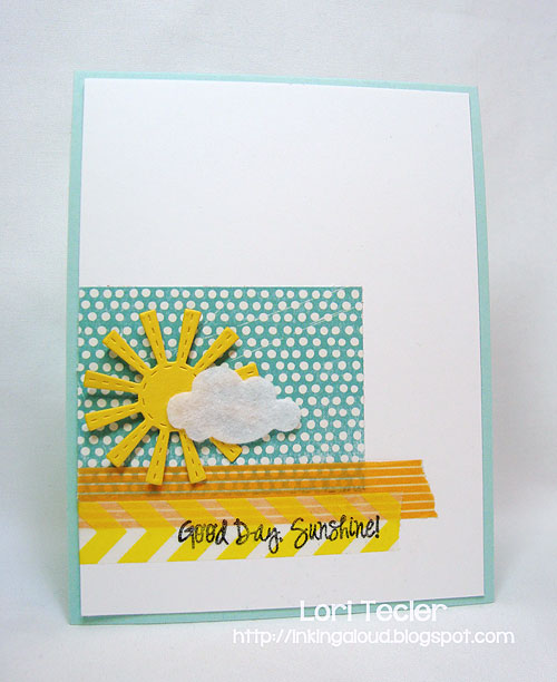 Good Day, Sunshine-designed by Lori Tecler-Inking Aloud-stamps and dies from Lil' Inker Designs