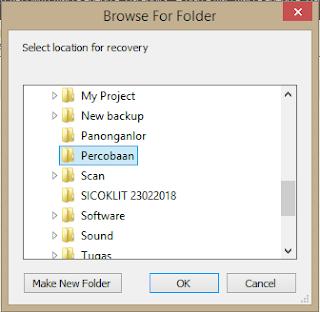 Pilih lokasi untuk menyimpan file