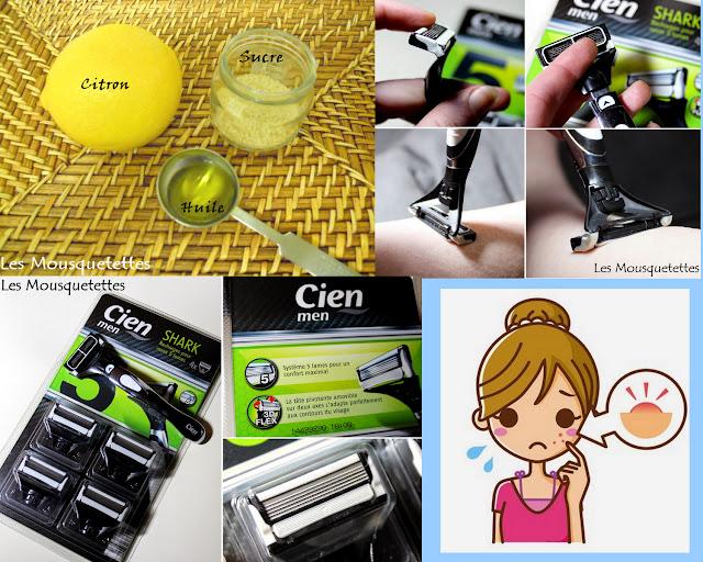 Lames de rasoir -Cien - Recette cosmétique maison anti-acné - Les Mousquetettes©