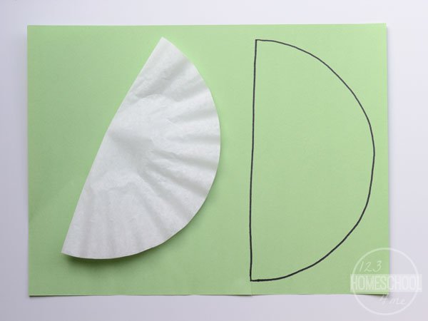 trace folded coffee filter