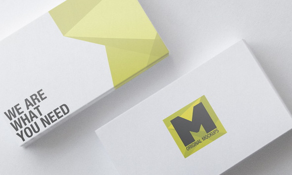 mockups de tarjeta de presentación 2018 editables