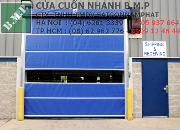 cửa cuốn tốc độ cao xưởng công nghiệp