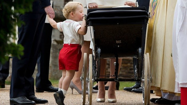 Princess Charlotte wore the same christening gown as Prince George